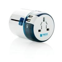 Uniwersalna ładowarka, adapter podróżny Travel Blue z USB