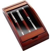 Zestaw piśmienny, długopis, pióro wieczne i nóż do otwierania listów