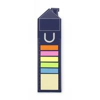 Zestaw do notatek, karteczki samoprzylepne, zakładka do książki, linijka, notatnik