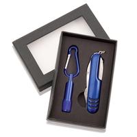 Zestaw narzędzi, narzędzie wielofunkcyjne, scyzoryk (7 el.), latarka 1 LED