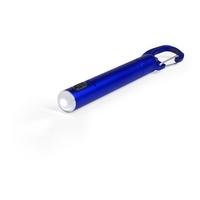 Latarka 1 LED, długopis i karabińczyk